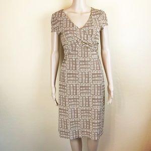 BCBGMaxAzria Neural Geometric Sheath Dress